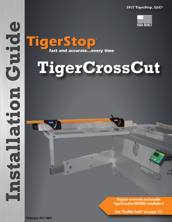 TIGERSTOP TigerCrossCut Installation Guide